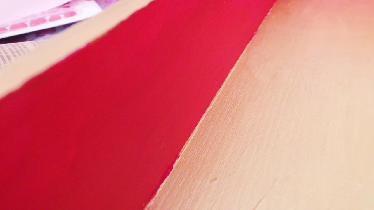 Plateau en bois avec fond en r sine effet craquel be - Peinture effet craquele ...